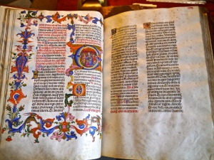 Double page illuminated  Epiphanie