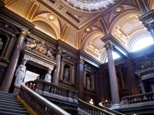 Magnificent staircase in the Fitzwilliam Museum