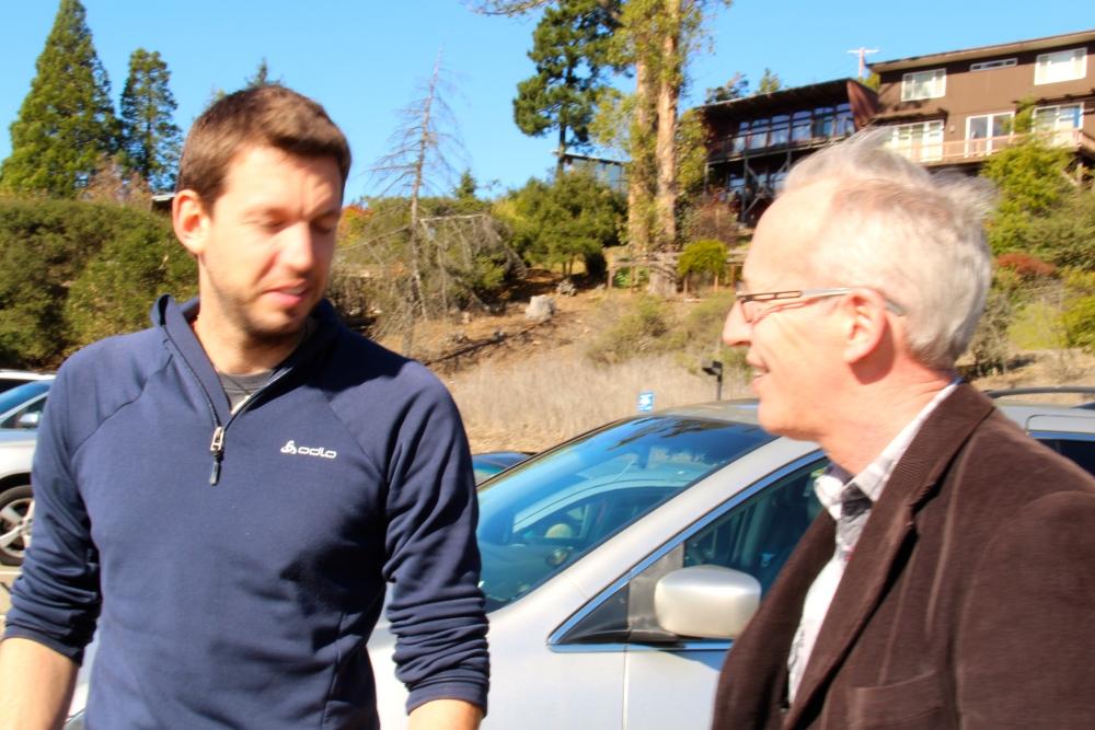 ZKS President visiting Dr. Corsin Battaglia (2nd ZKS/EPFL Award) at UC Berkeley (1/4)