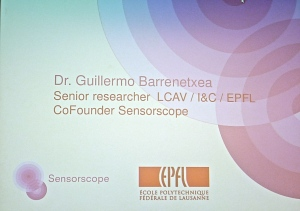 Presentation  SensorScope by  Dr. Guillermo Barrenetxea