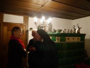 L'apéritif dans une des très belles salles du couvent