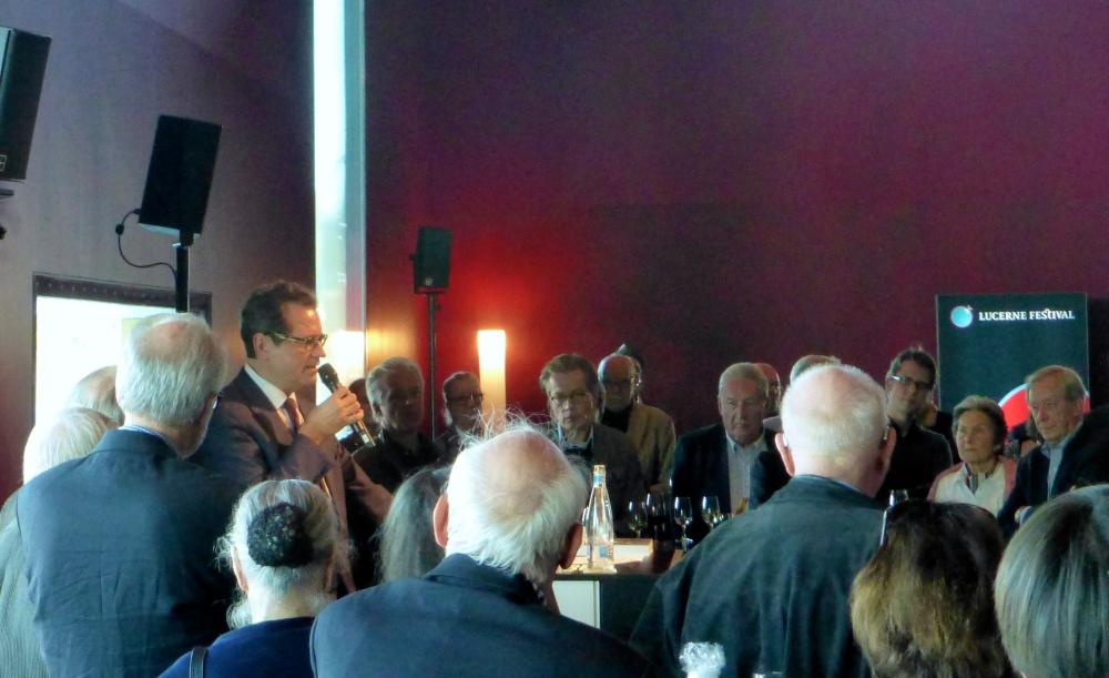 Vernissage des ersten Buchs über die Geschichte des Lucerne Festivals