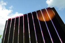Image: organic photovoltaics printed on ultra-thin glass  © Fraunhofer IAP