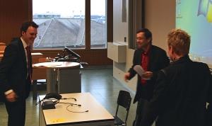 J.C. Klenk, R. Wetzel und Jacqueline Schindler