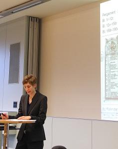 Dr. Nicole Eichenberger erklärt ihre fundamentale Dissertation