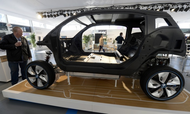 The light-weight BMW i3 is designed to maximise its range. EPA