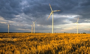 Germany gets much of its renewable energy from wind farms, including this one in a farmers' field. Photo credit: Shutterstock