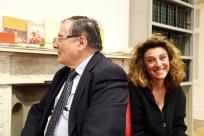 Left: Prof. A. Paravicini-Bagliano, President of SISMEL