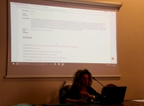 Sylvia explaining the new DG project