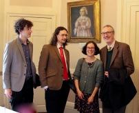Prof. Sunderland, Matthew Hoskin, Elisabeth Biggs, Prof. O'Brien