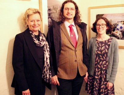 Jacqueline Schindler and the fellows Matthew Hoskin and Elisabeth Biggs