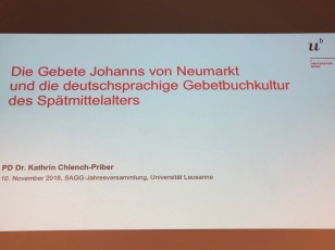 Presentation of the Habilitation about Johann von Neumarkt